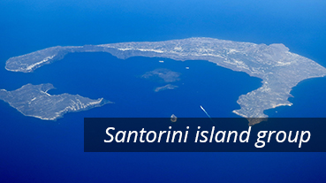 The Santorini island group - Greece